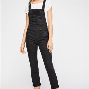Free People Washed Denim Overalls- Blk/28